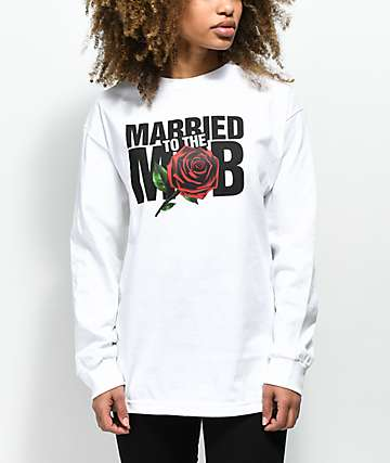 Married To The Mob Rose White Long Sleeve T-Shirt