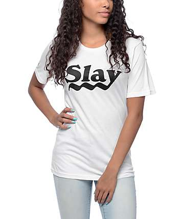 Married To The Mob Slay White T-Shirt