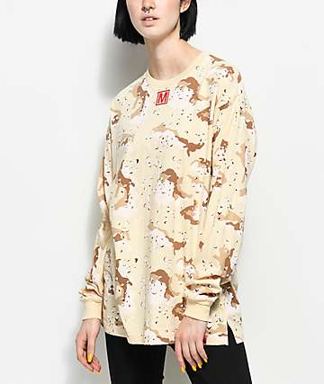 Married To The Mob Storm Desert camiseta de manga larga camuflada