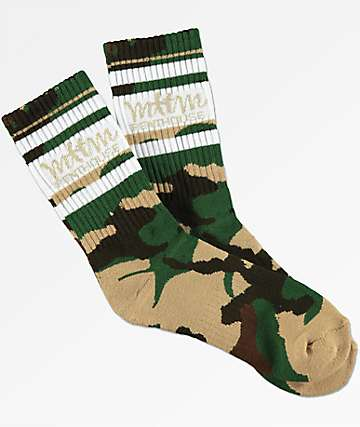 Married To The Mob X Penthouse Camo Crew Socks