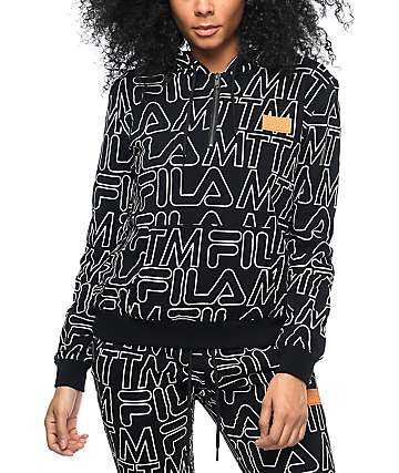 Married To The Mob x Fila Lounger sudadera negra con capucha