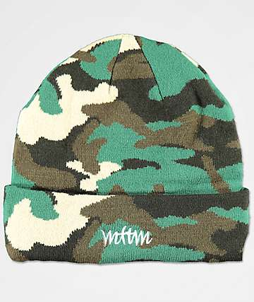 Married To The Mob x Penthouse Green Camo Beanie