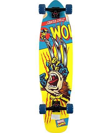 "Marvel x Santa Cruz Wolverine Hand 36"" Longboard Complete"