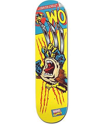 "Marvel x Santa Cruz Wolverine Hand 8.25"" Skateboard Deck"