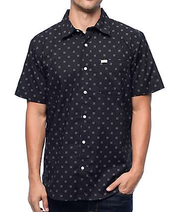 Matix Burst Micro Geo Navy Button Up Shirt
