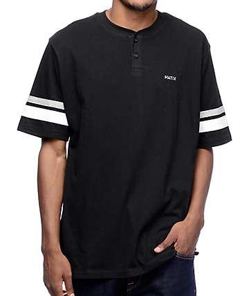 Matix Economy Black Knit Henley Shirt