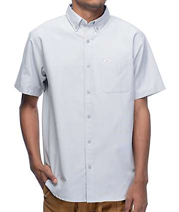 Matix Eli Oxford Grey Short Sleeve Button Up Shirt