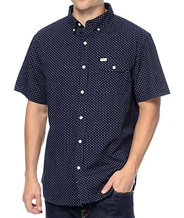 Matix Esquire Navy Button Up Shirt
