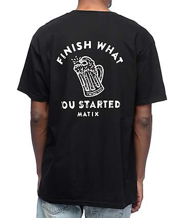 Matix Finish Black T-Shirt