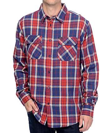 Matix Hamilton camiseta manga larga tejida con botones en rojo