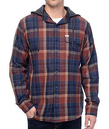 Matix Hargrove camisa de franela con capucha