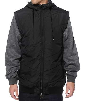 Matix Max Chevron Zip Up Vest Hoodie