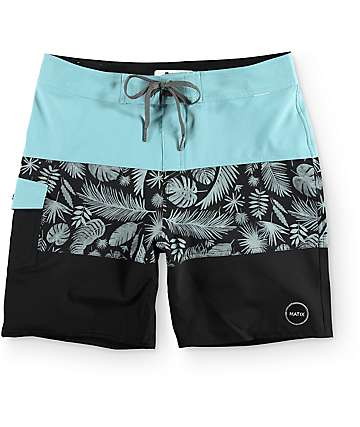"Matix Palms Light Blue 19""  Board Shorts"