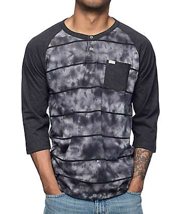 Matix Pharoah Tie Dye Long Sleeve Henley T-Shirt
