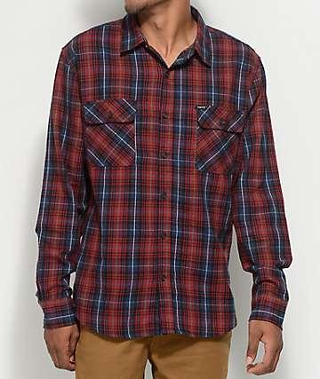 Matix Pismo camisa de franela en azul marino y color borgoño