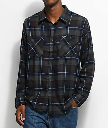 Matix Sycamore camisa de franela en gris y azul marino
