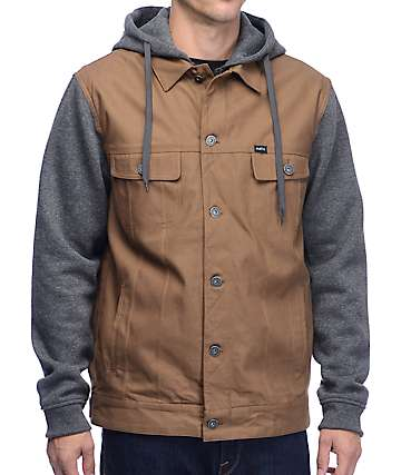 Matix Union Trucker Bedford & Charcoal Jacket