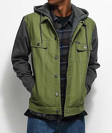 Matix Union Trucker Olive & Charcoal Jacket