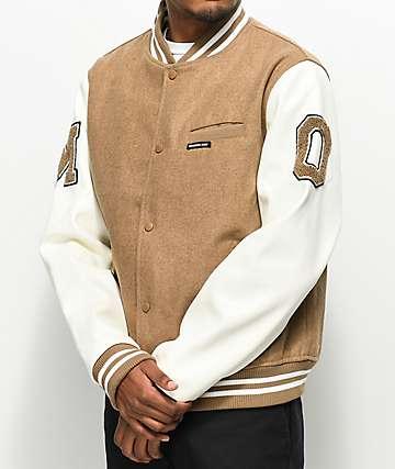 Members Only Camel Wool Varsity Jacket