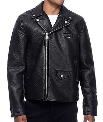 Members Only Leather Biker Black Jacket
