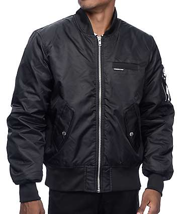 Members Only M.O. Military Black Bomber Jacket