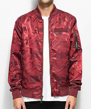 Members Only Military Red Camo Bomber Jacket