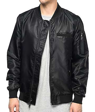 Members Only Military chaqueta bomber en negro