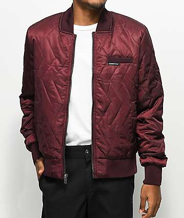 Members Only Ozone Burgundy Bomber Jacket