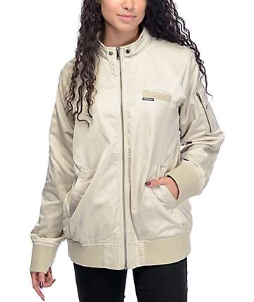Members Only chaqueta boyfriend de satín en color natural