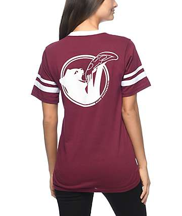 Meow Skateboards Cat Snax Maroon T-Shirt