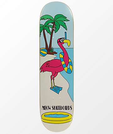 "Meow Skateboards Flamingo 8.25"" Skateboard Deck"