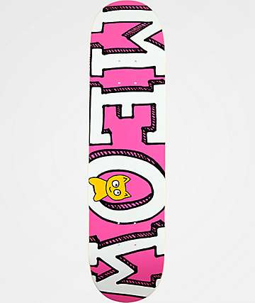 "Meow Skateboards Logo 7.75"" Pink Skateboard Deck"
