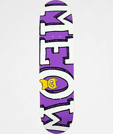 "Meow Skateboards Logo 8.0"" Purple Skateboard Deck"