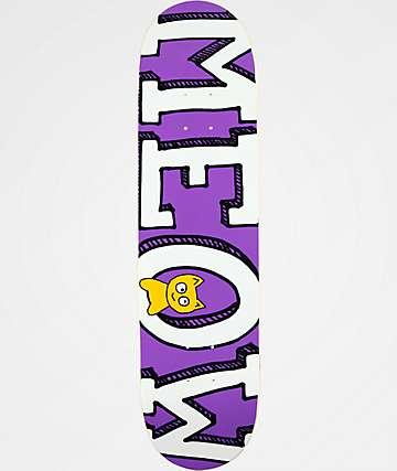 """Meow Skateboards Logo 8.0"""" tabla de skate morada"""