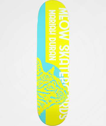 "Meow Skateboards Mariah Duran Retro 8.0"" Skateboard Deck"