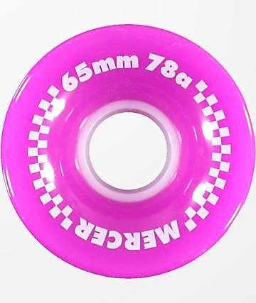 Mercer 65mm 78a ruedas de skate de color púrpura