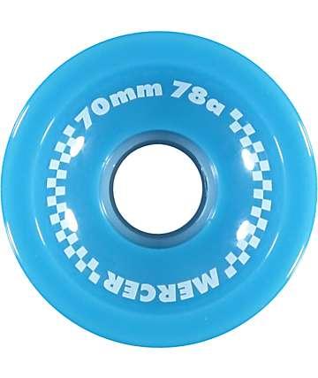 Mercer 70mm 78a Blue Skateboard Wheels