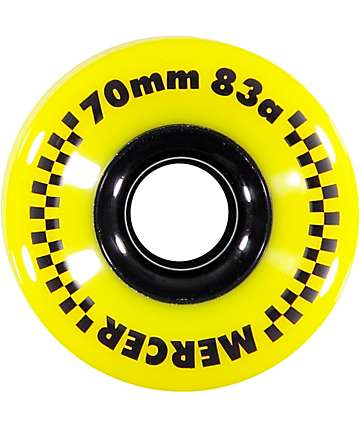 Mercer 70mm 83a Longboard Wheels