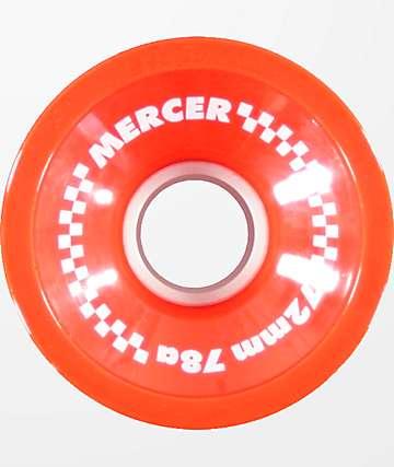 Mercer 72mm 78a ruedas de longboard color rojo