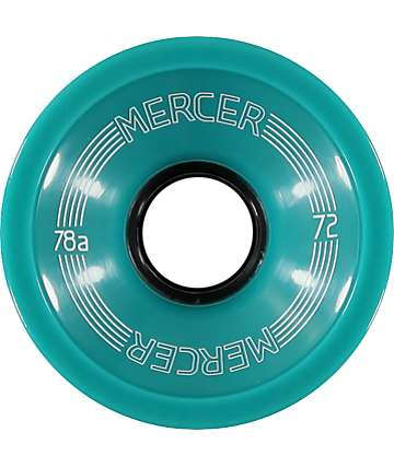 Mercer 72mm Mint 78a Longboard Wheels