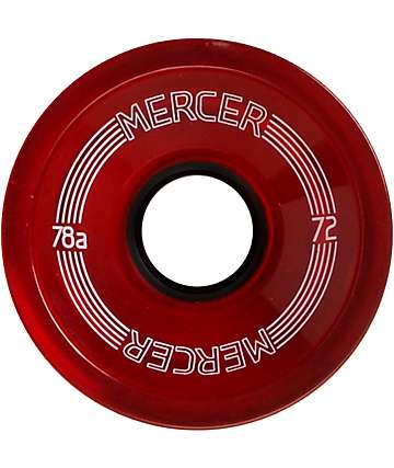 Mercer 72mm Red 78a Skateboard Wheels