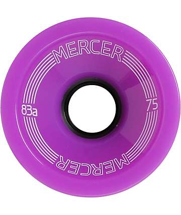 Mercer 75mm Purple 83a Skateboard Wheels
