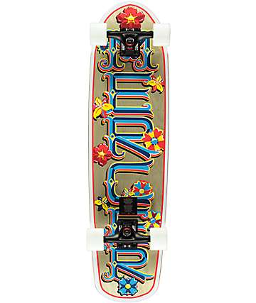 "Mercer Flower Power 34""  Cruiser Complete Skateboard"