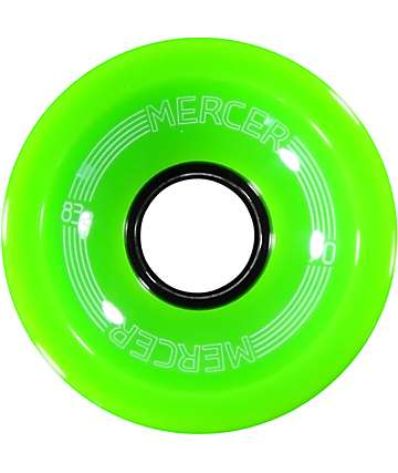 Mercer Lime Green 70mm Skateboard Wheels