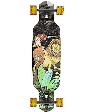 "Mercer Lion VS Cobras Double Drop Through 35.5"" longboard completo"