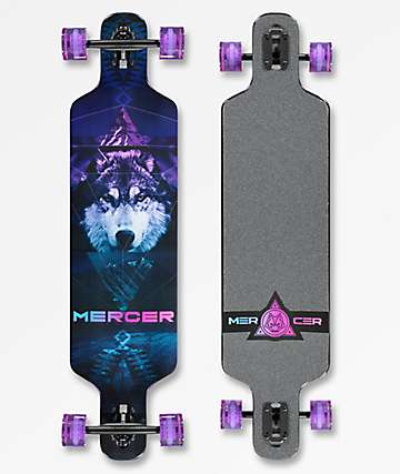 "Mercer Mystic Wolf 2 40"" Drop Through Longboard Complete"