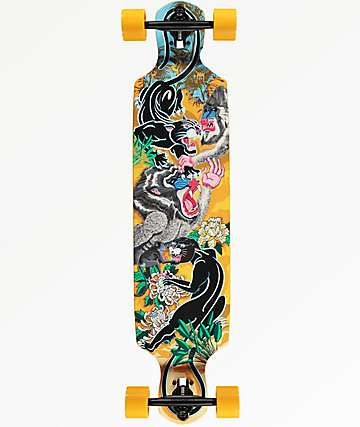 "Mercer Panther VS Baboon 40"" Drop Through Longboard Complete"