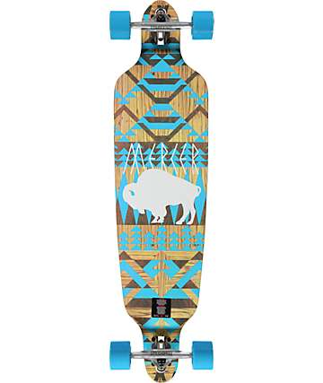 "Mercer White Buffalo 40"" Drop Through Longboard Complete"