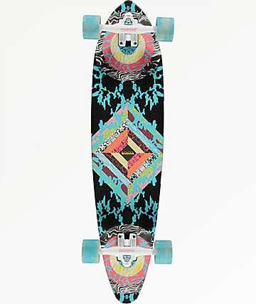 "Mercer Woodstock 35"" mini pintail longboard completo"