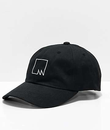 Meridian Skateboards Squared Outline Black Strapback Hat